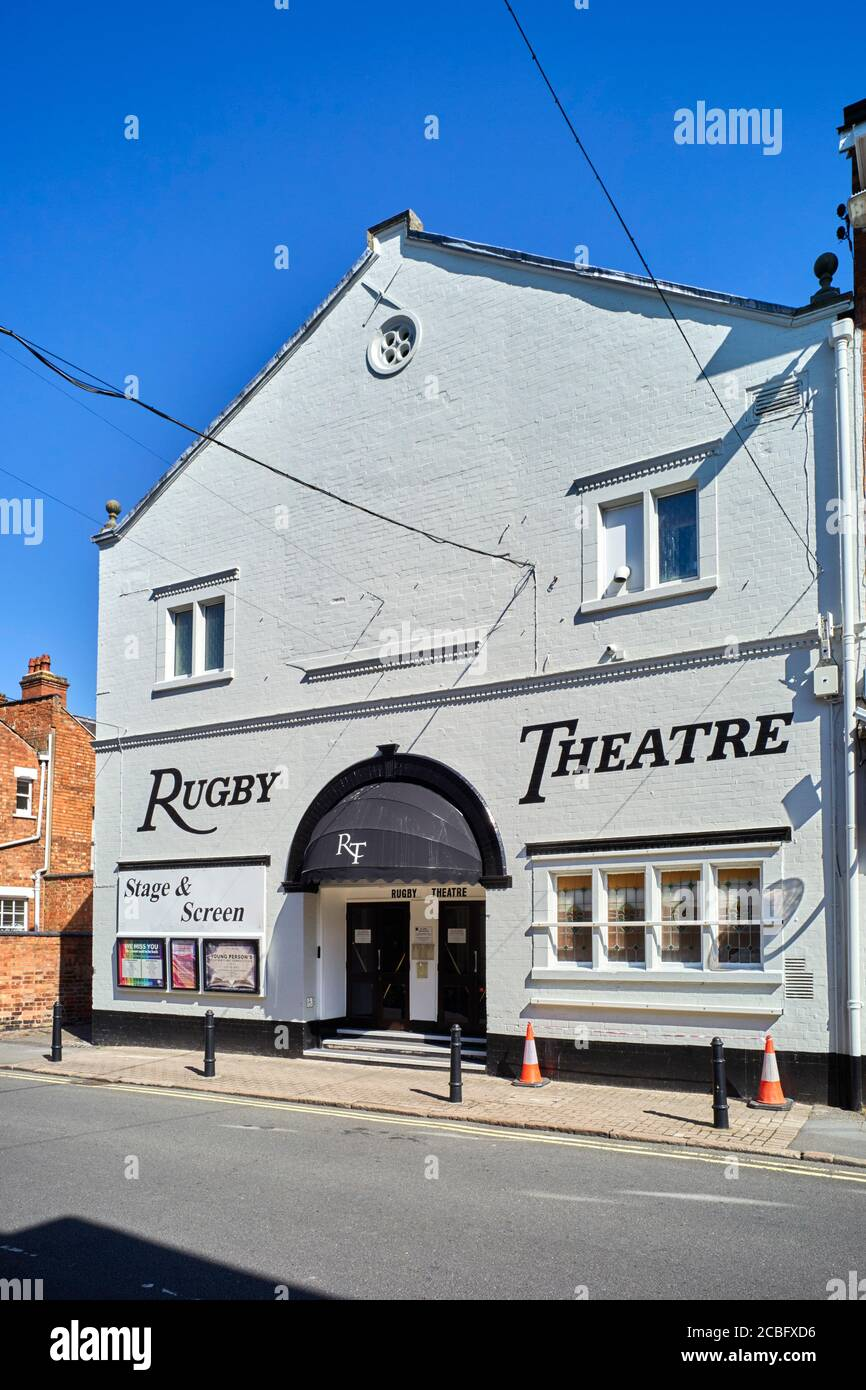 Exterior of the Rugby Theatre in Warkwickshire Stock Photo
