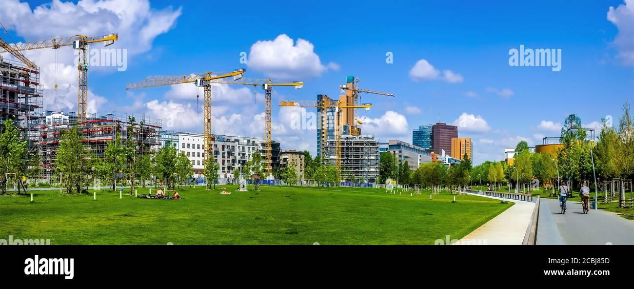 City building aktivity in Berlin Stock Photo