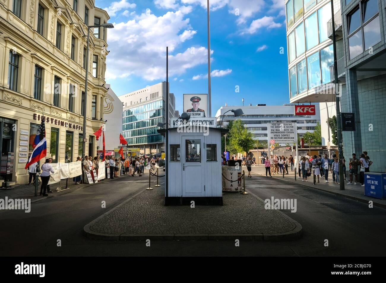 US Army Checkpoint Charlie Berlin Germany Stock Photo