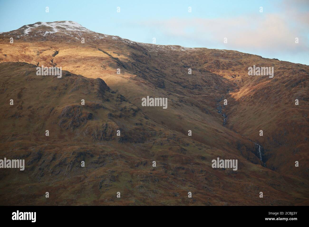 Scottish Mountains show their beauty in the wilderness. Stock Photo