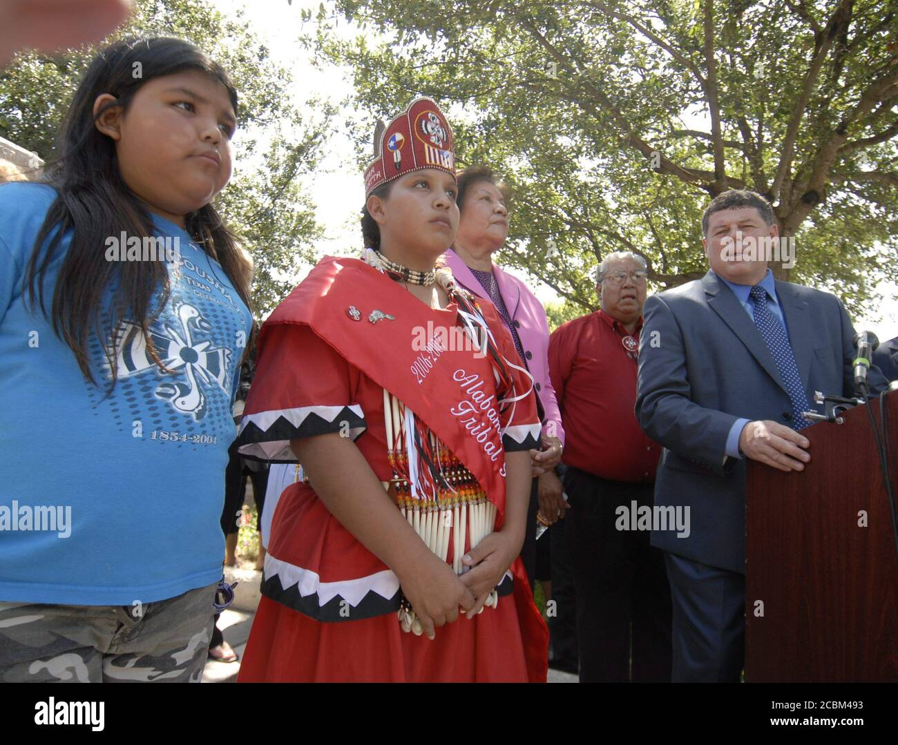 Austin Texas July 12 2006 The Alabama Coshutta Tribe Of Texas Announces At The State Capitol That It Has Filed A Federa Lawsuit Against Former Lobbyist Jack Abramoff Partner Michael Scanlon Lobbyist Ralph