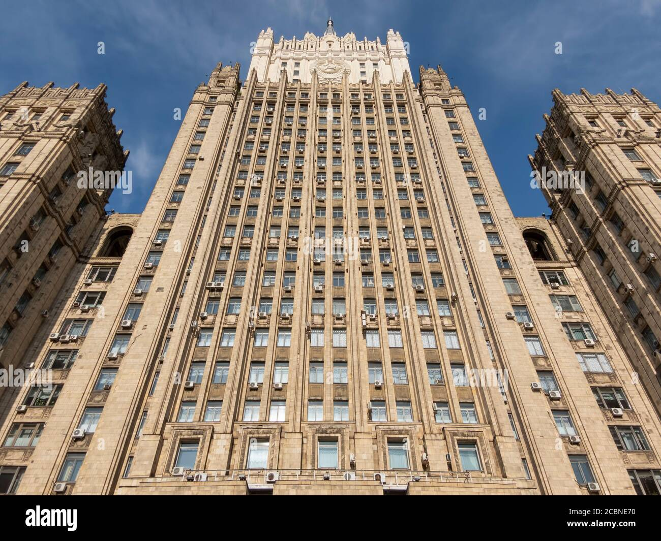 MOSCOW - SEPTEMBER 27: building of the Ministry of Foreign Affairs on September 27, 2010 in Moscow, Russia. Stock Photo