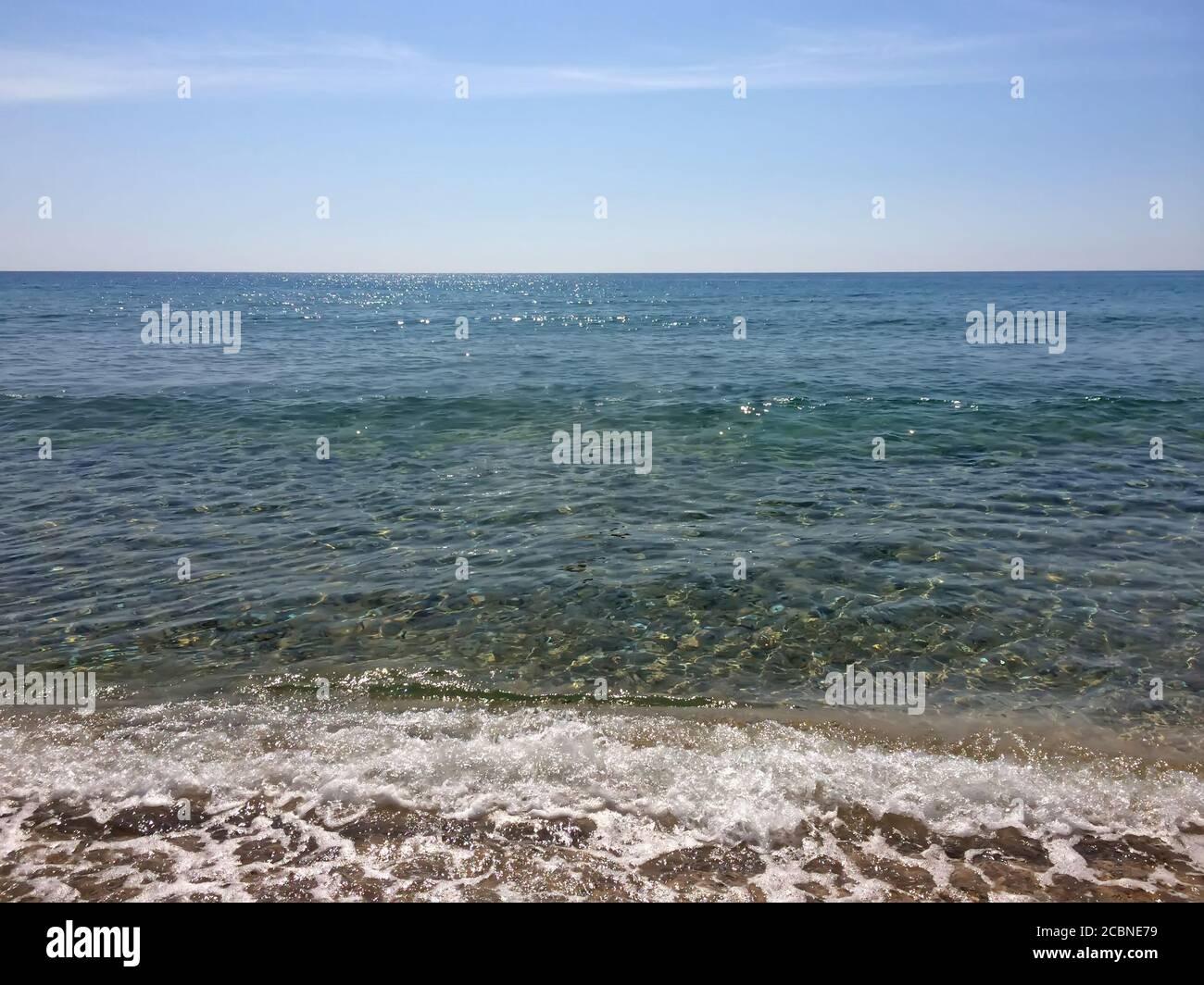 Beautiful tropical seascape. Sky and sea. Stock Photo