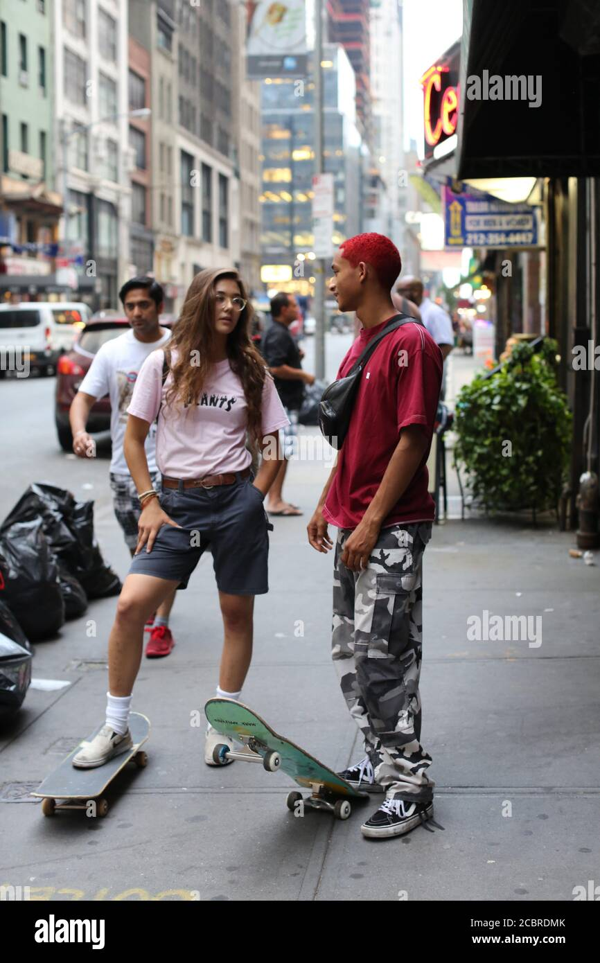 Jaden Smith And Rachelle Vinberg In Skate Kitchen 2018 Directed By Crystal Moselle Credit Bow And Arrow Entertainment Pulse Films Rt Features Album Stock Photo Alamy
