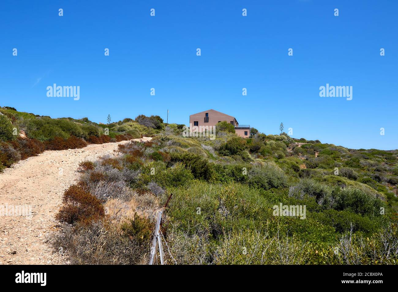Isola Santa Maria island, wunderlasts view for rocks and shrubs Stock Photo