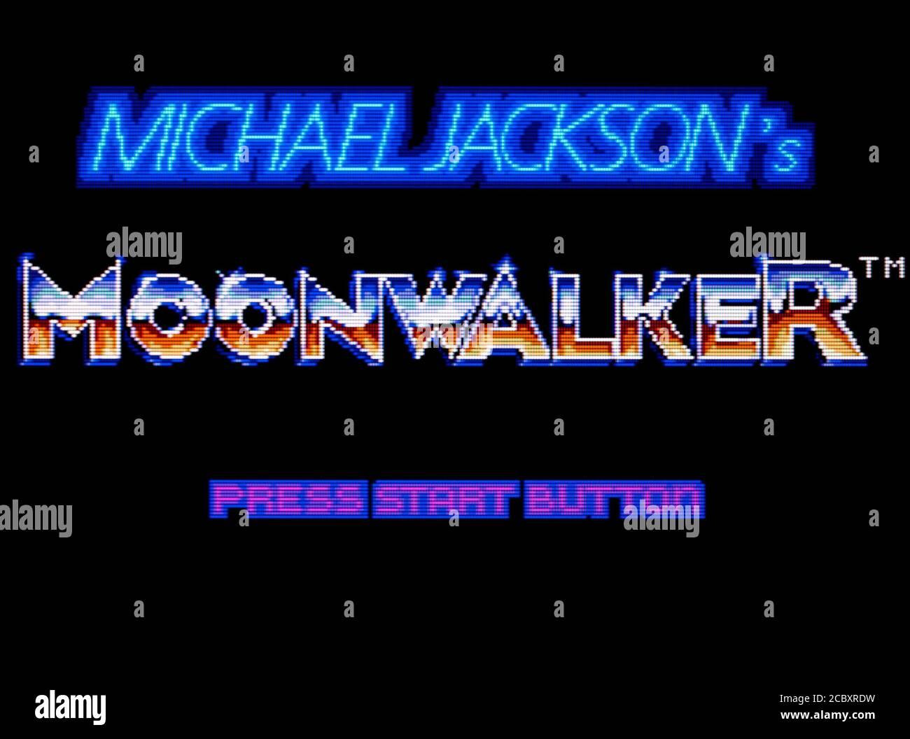 Michael Jackson's Moonwalker - Sega Master System - SMS - editorial use only Stock Photo