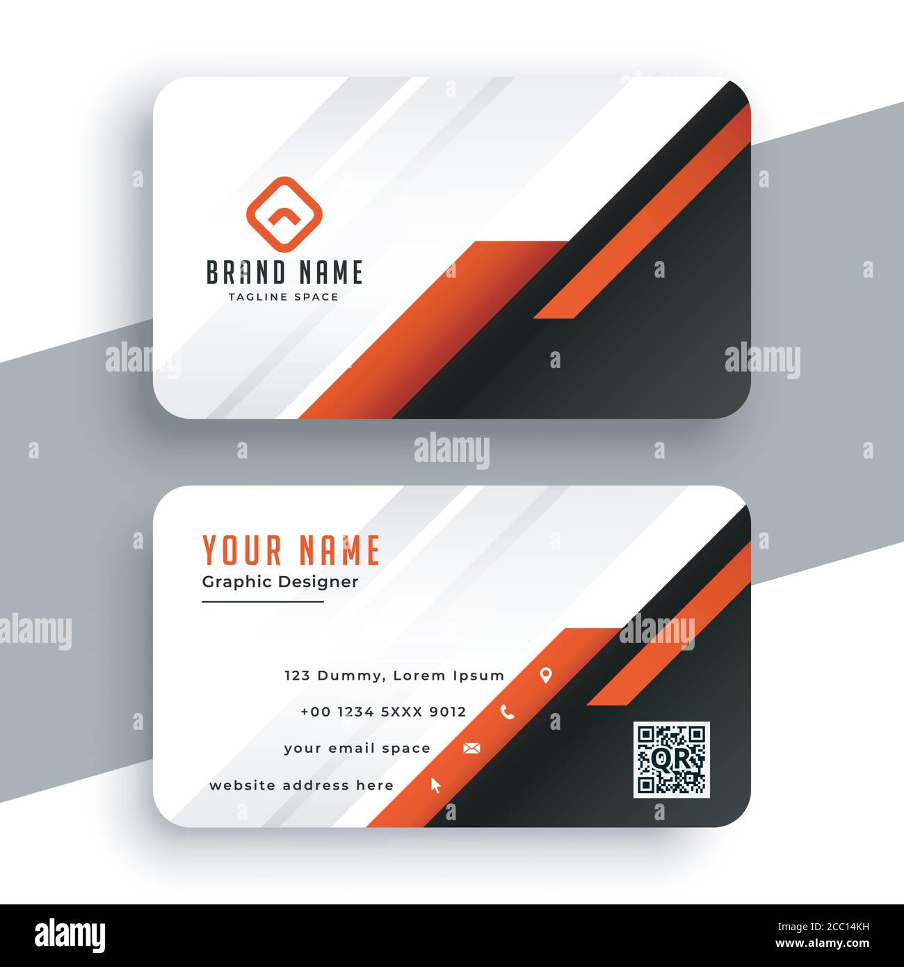 Modern professional Business Card Template.Simple Business Card Intended For Web Design Business Cards Templates