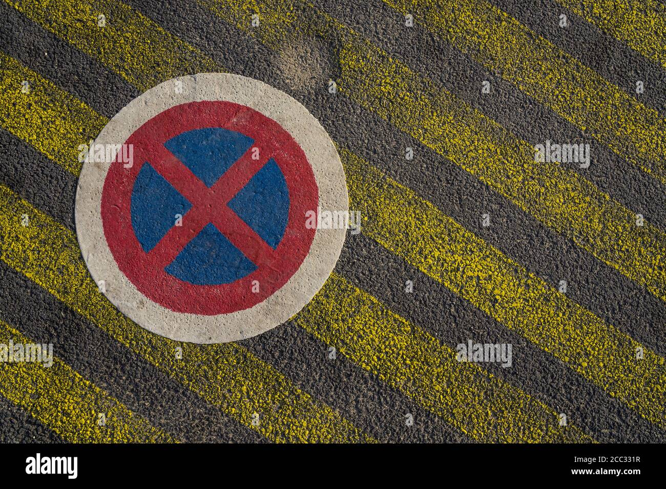 no parking sign in a french street Stock Photo