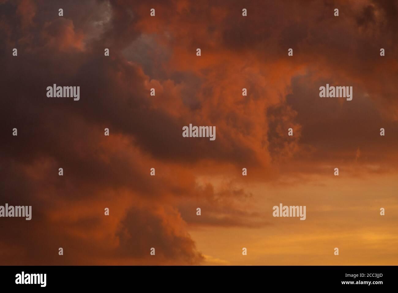 Sunset skies over Mercy Park in Joplin, MO Stock Photo