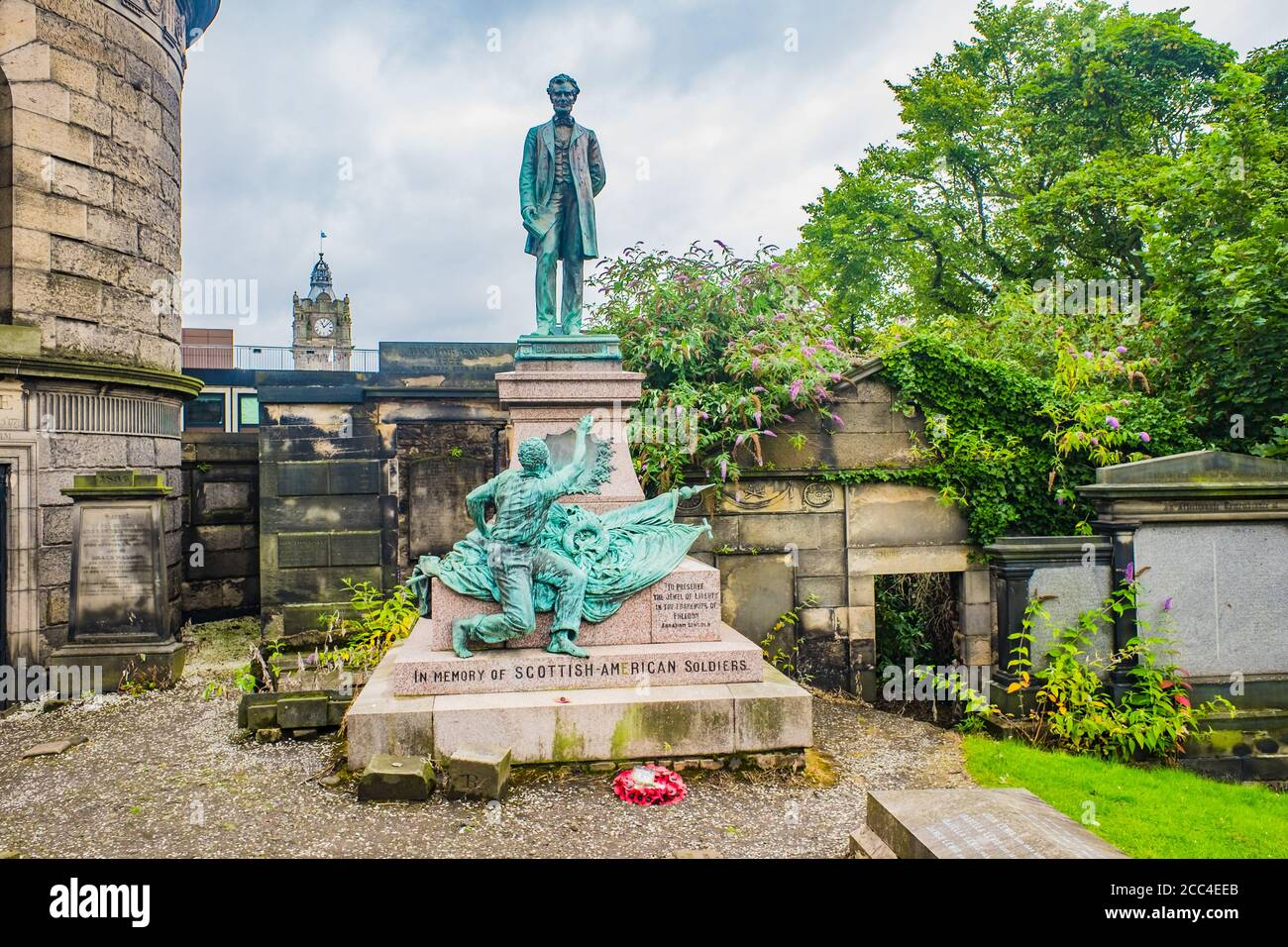 Edinburgh, Scotland 5th August 2020 tombs and gravestomes inThe Old Calton Burial Ground near Calton Hill Stock Photo