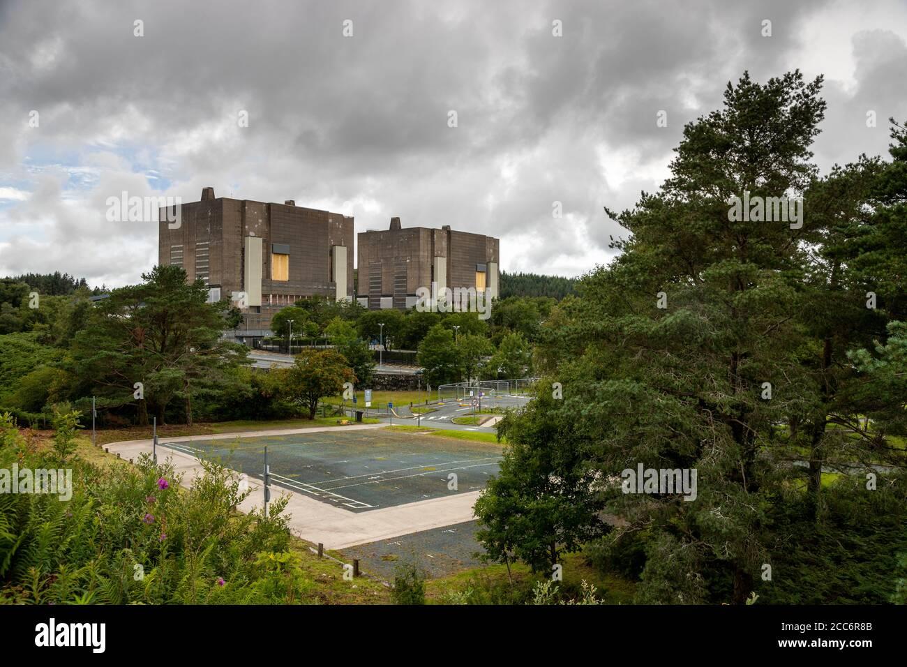 Trawsfynydd magnox nuclear power station, Wales Stock Photo