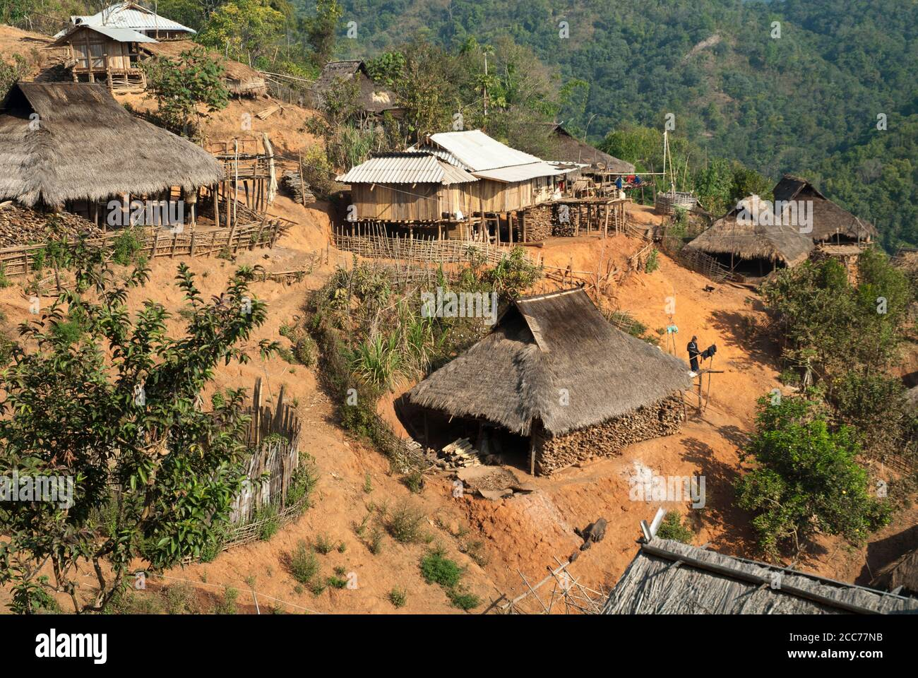 Eng and Akha hilltribe villages outside Kengtung, Shan State, Myanmar (Burma) Stock Photo
