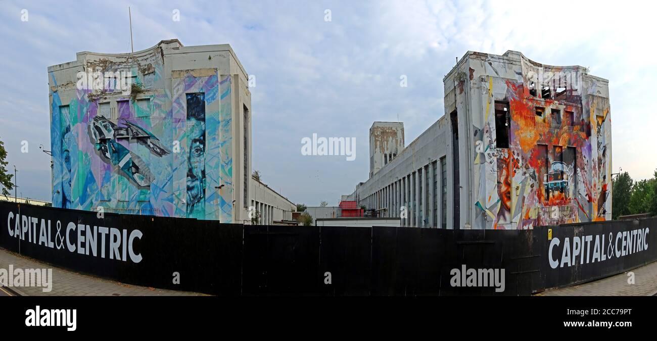 Edge Lane, Littlewoods Pools Building, Liverpool, Merseyside, North West England,England, UK - Capital & Centric film studios Stock Photo