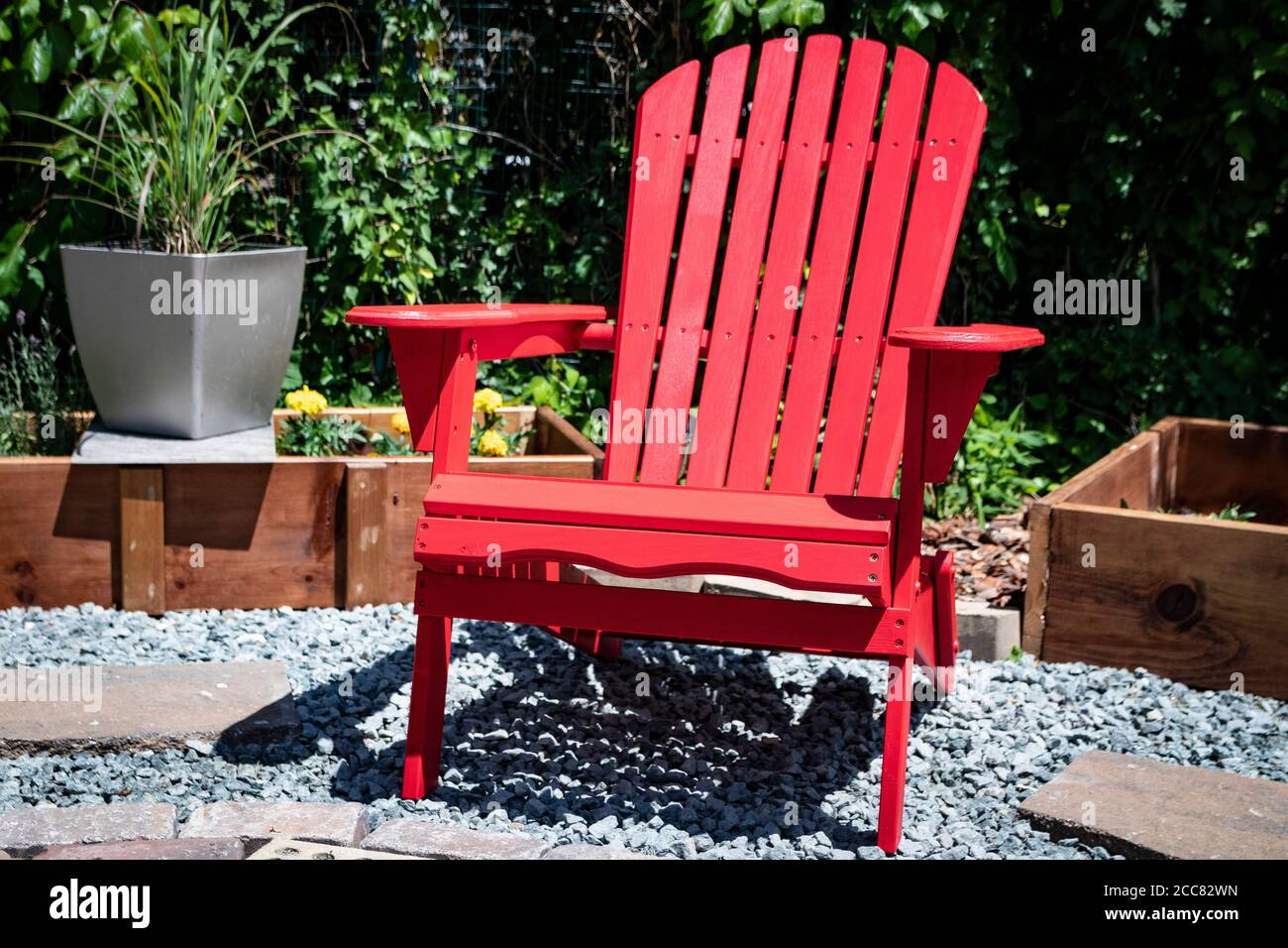 Paint Wood Garden Furniture High Resolution Stock Photography and
