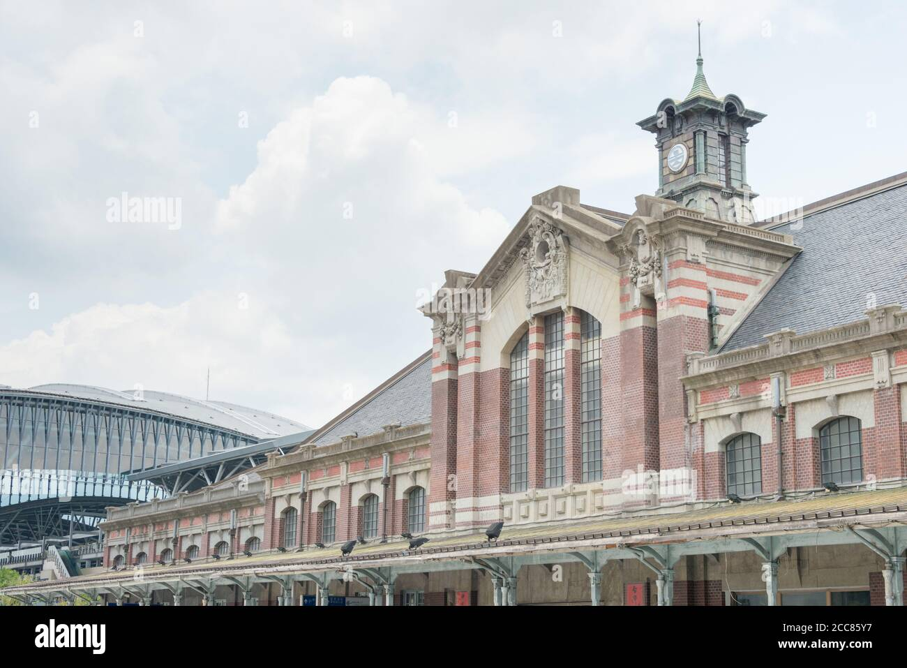 Taichung railway station (Old station) in Taichung, Taiwan. The station was Opened in 1905, and is classified as a National Tier 2 Historic Site. Stock Photo