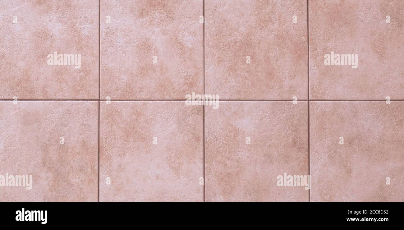 Floor Tiles Texture Abstract Pattern Of Squares With Pink Ceramic Tile Marble Wall Background Wallpaper Light Brown Wide Panorama Great Bathroom Stock Photo Alamy