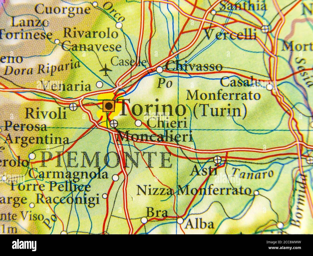 Cartina Piemonte Cuneo