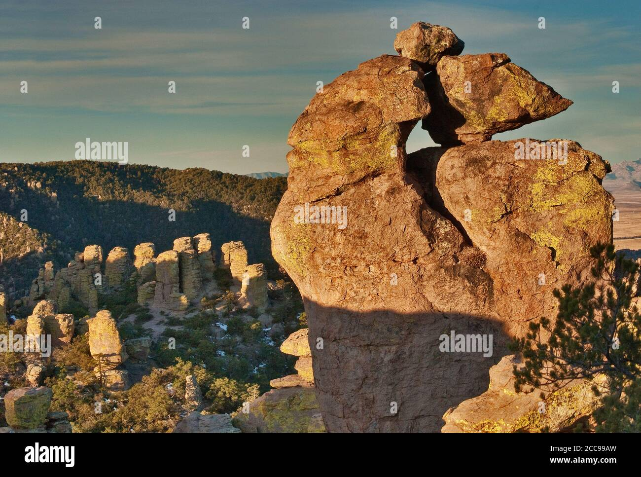 Rocks at Massai Point at Chiricahua National Monument, Arizona, USA Stock Photo