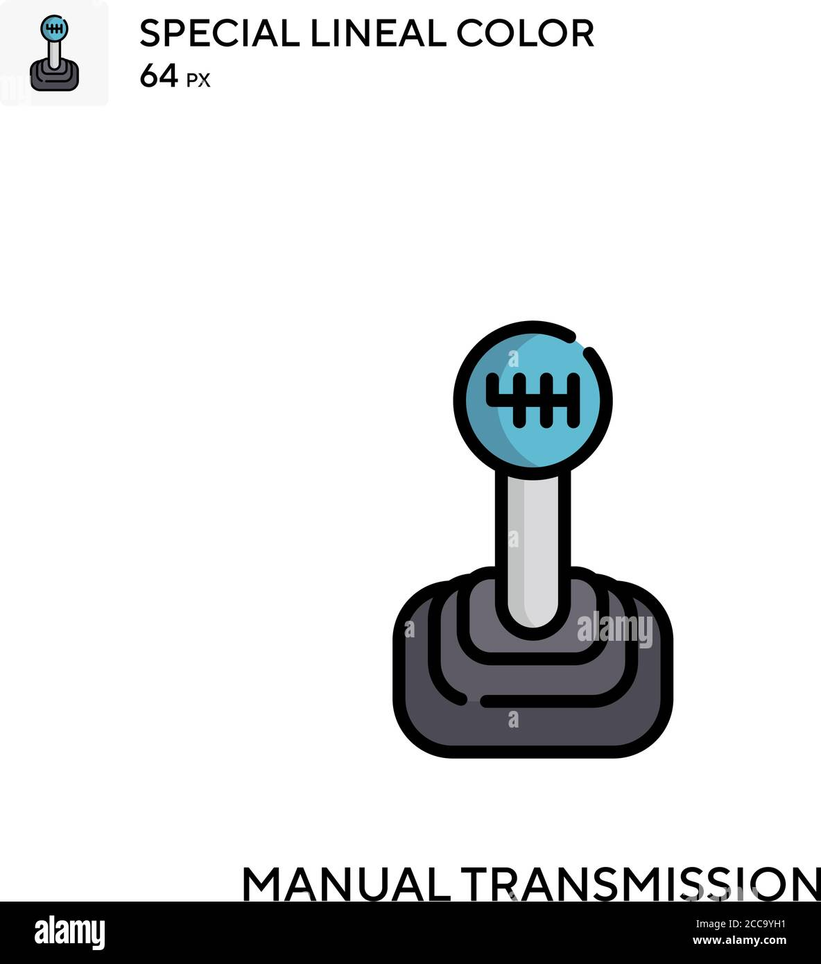 Manual Transmission Special Lineal Color Vector Icon Illustration Symbol Design Template For Web Mobile Ui Element Stock Vector Image Art Alamy