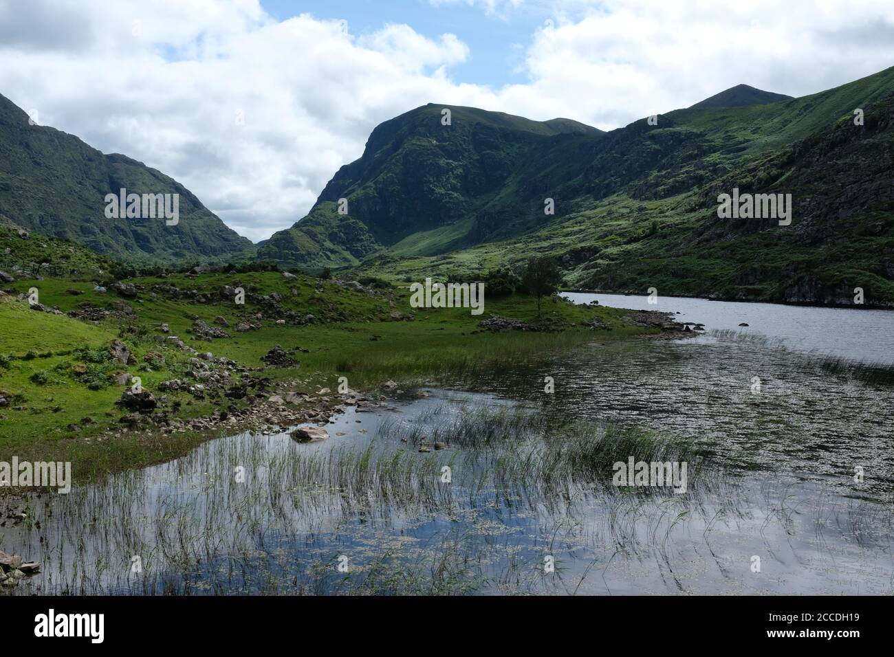 Walking the Gap of Dunloe as part of our Kerry Way hike in 2019 Stock Photo