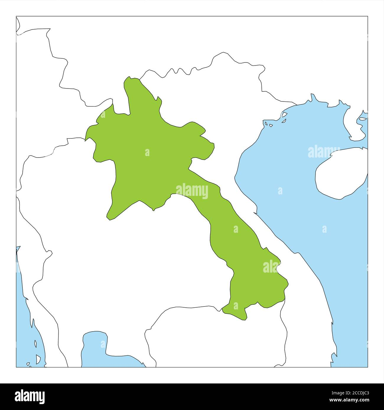 Picture of: Map Of Laos High Resolution Stock Photography And Images Alamy