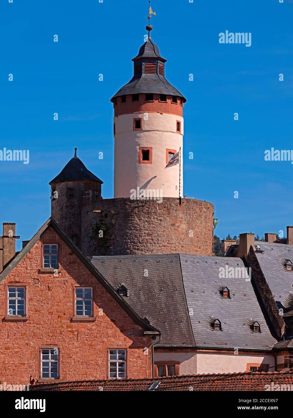 Büdinger Schloss, Bergfried, Grafschaft Ysenburg, Büdingen, Hessen, Germany Stock Photo