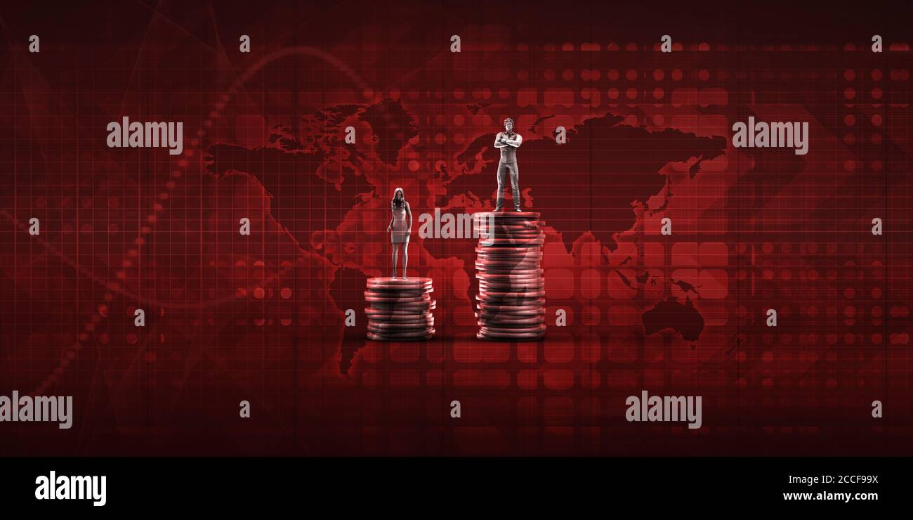 Income Inequality for Economic and Social Challenges Concept Stock Photo