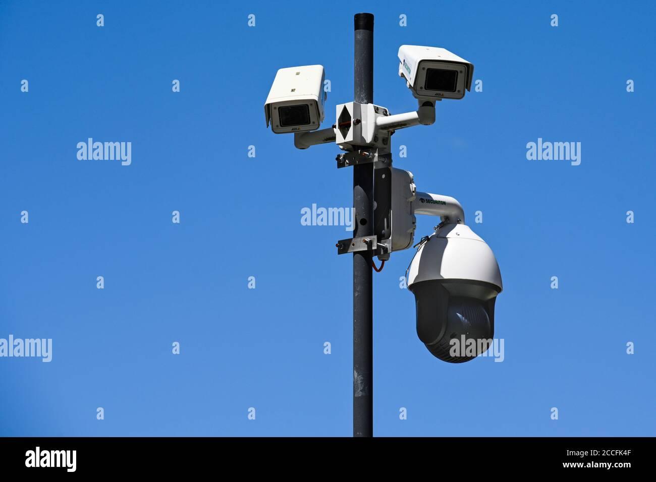 Public security camera Stock Photo