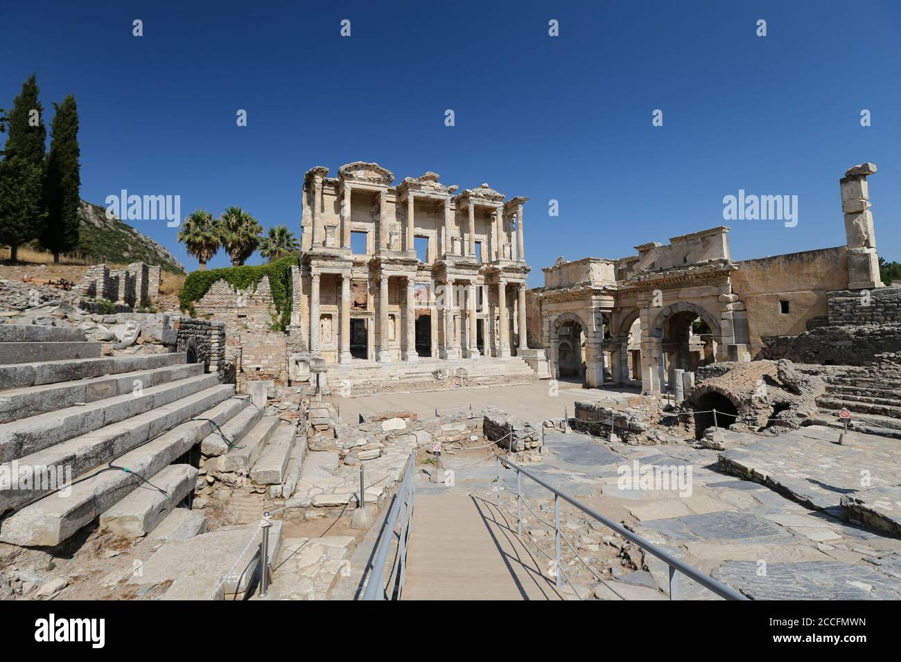 Library Of Celsus In Ephesus Ancient City Selcuk Town Izmir City Turkey Stock Photo Alamy