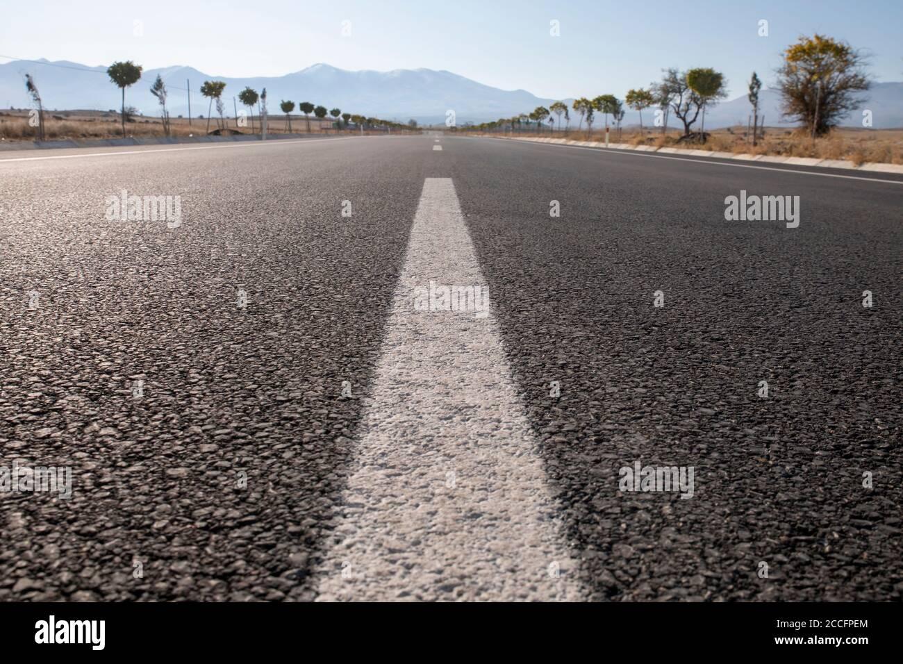 Asphalt Road background, Travel Concept Stock Photo