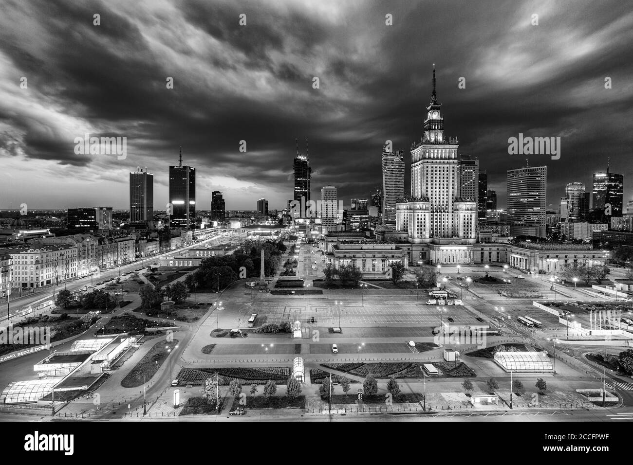 Europa, Poland, Voivodeship Masovian, Warsaw - the capital and largest city of Poland - Palace of Culture and Science Stock Photo