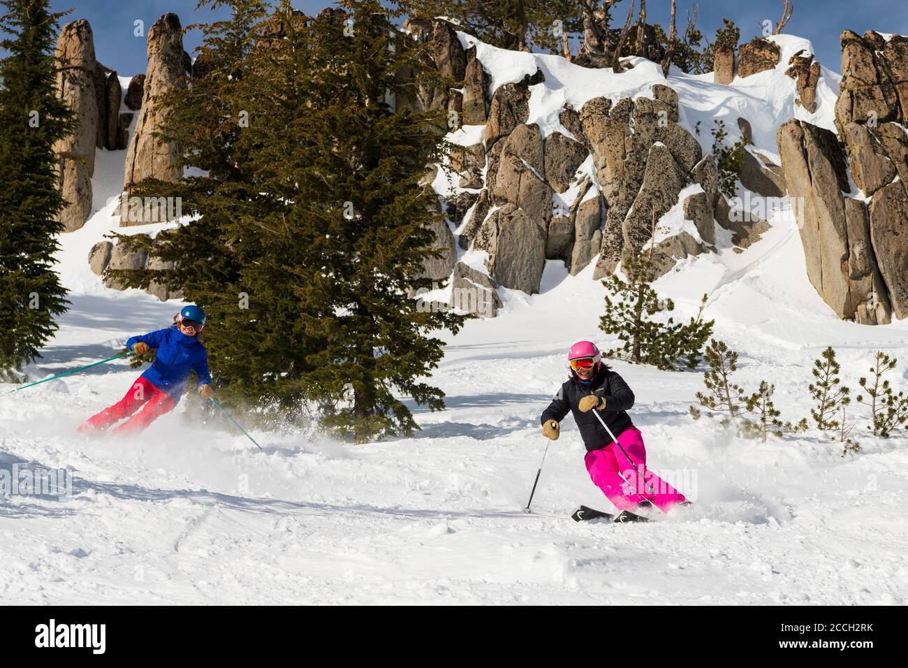Mt Rose Mid Winter ski shoot Stock Photo