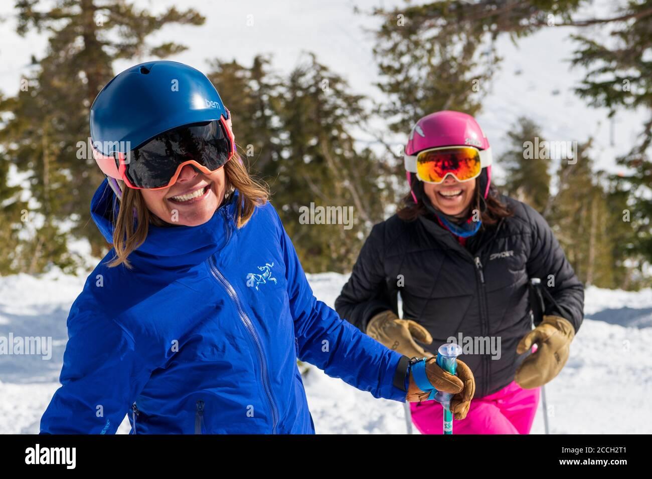 Mt Rose Mid Winter ski shoot Stock Photo