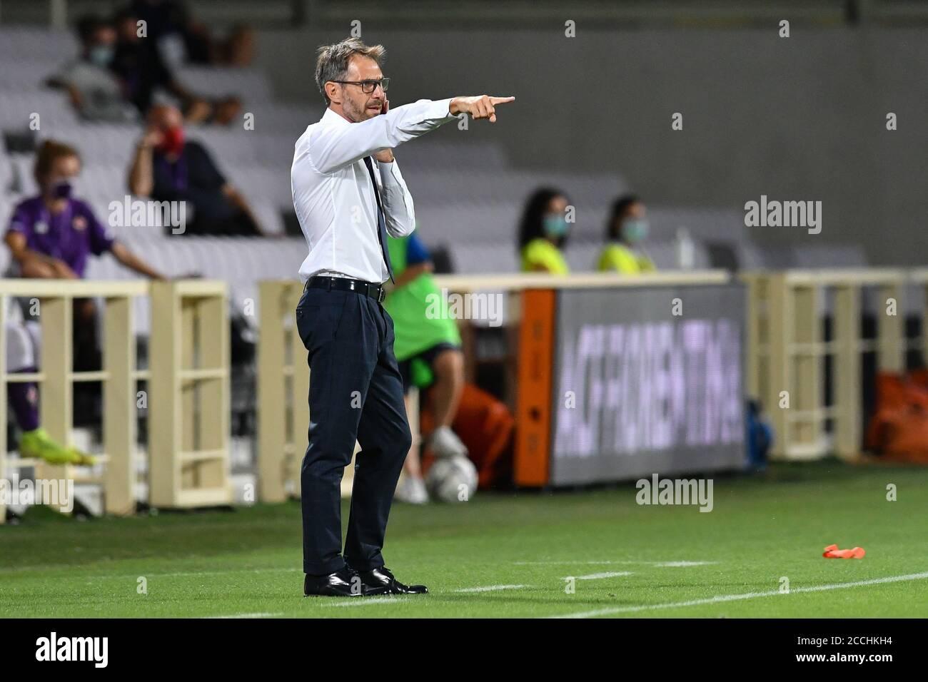 Florence Italy 22nd Aug 2020 Antonio Cincotta Head Coach Fiorentina Femminile During Acf Fiorentina Femminile Vs