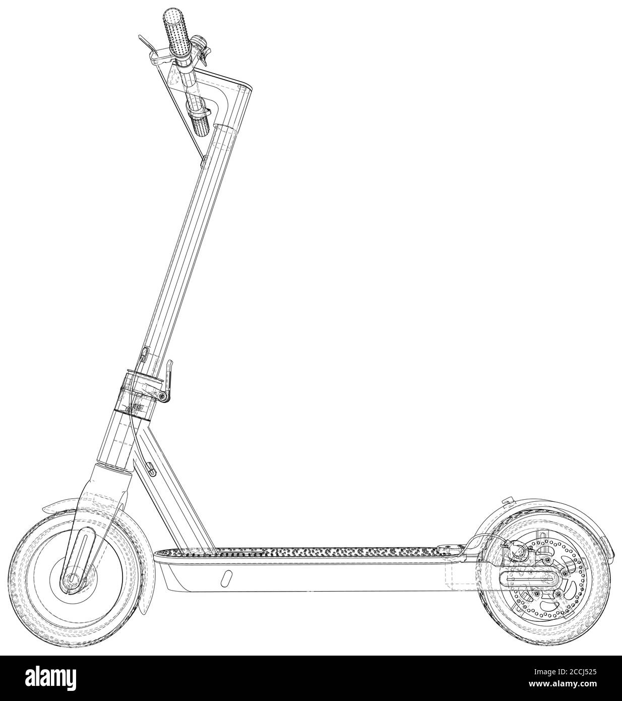 Electric Scooter Electric Scooter On A White Background Electric Transport Stock Vector Image Art Alamy