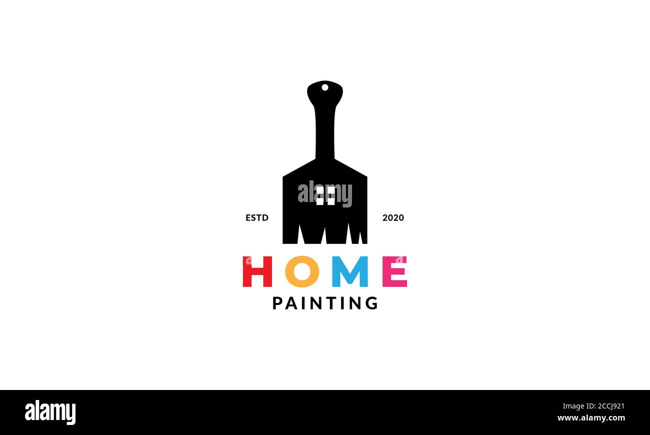 Home Or House Or Interior Paint Colorful Logo Design Modern Stock Vector Image Art Alamy