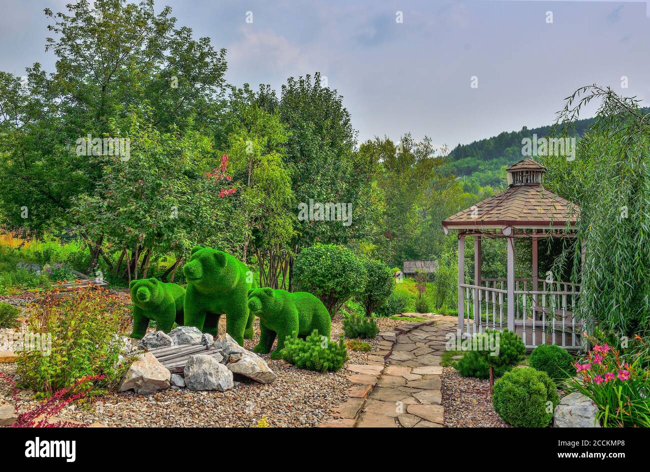 Topiary Bear High Resolution Stock Photography And Images Alamy