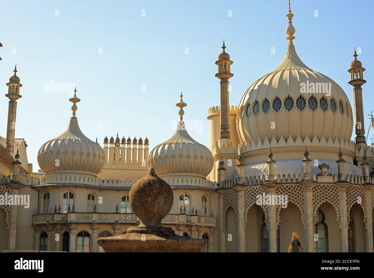 Brighton Pavilion, UK, 2020. The Pavilion was built between 1787 and 1820 for various Royals.  It is now run by a charity and is open to the public du Stock Photo