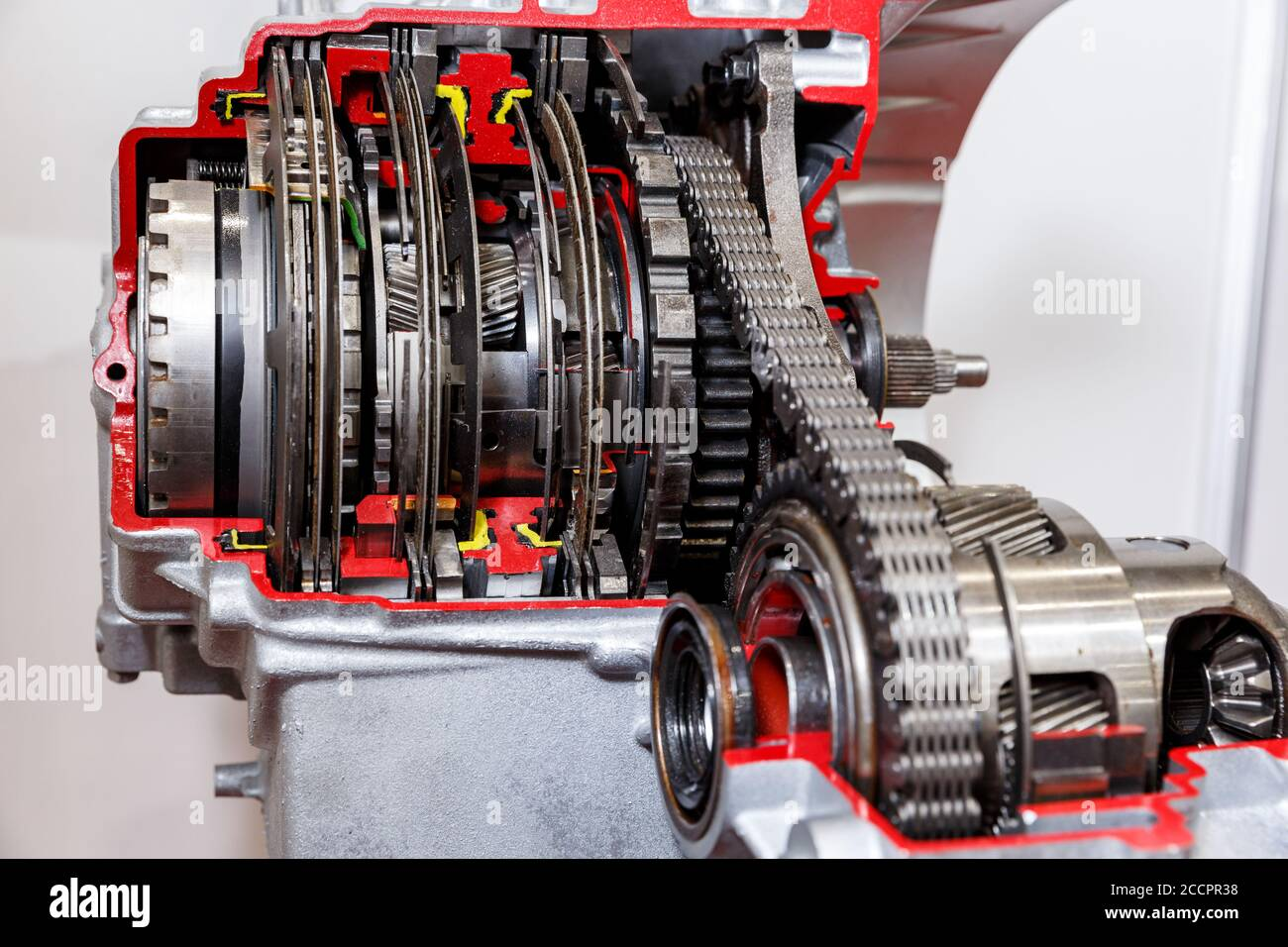 Automatic Car Transmission Cutaway Presented On A Exibition Stand Stock Photo Alamy