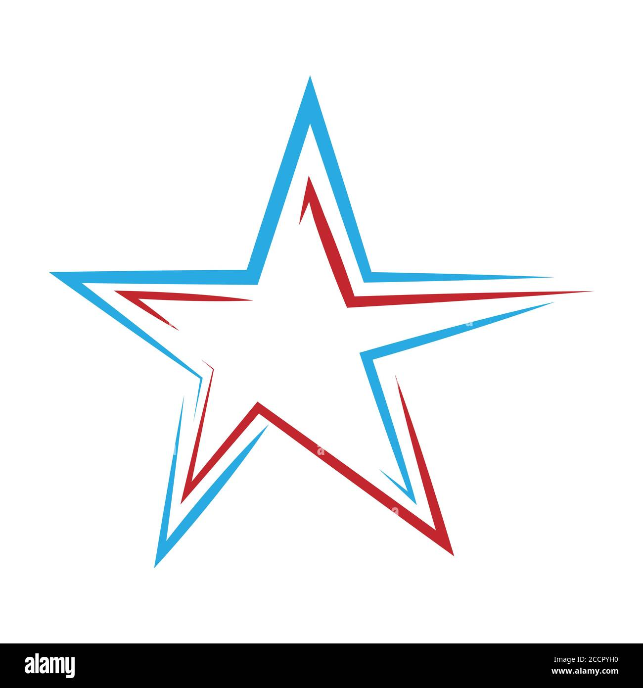 Star. Template for a logo, sticker, or emblem isolated on a white background Stock Vector