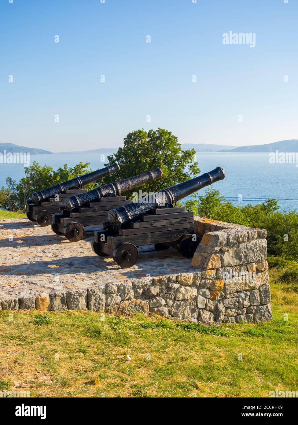 Cannon before near Nehaj tower in Senj in Croatia Europe Stock Photo