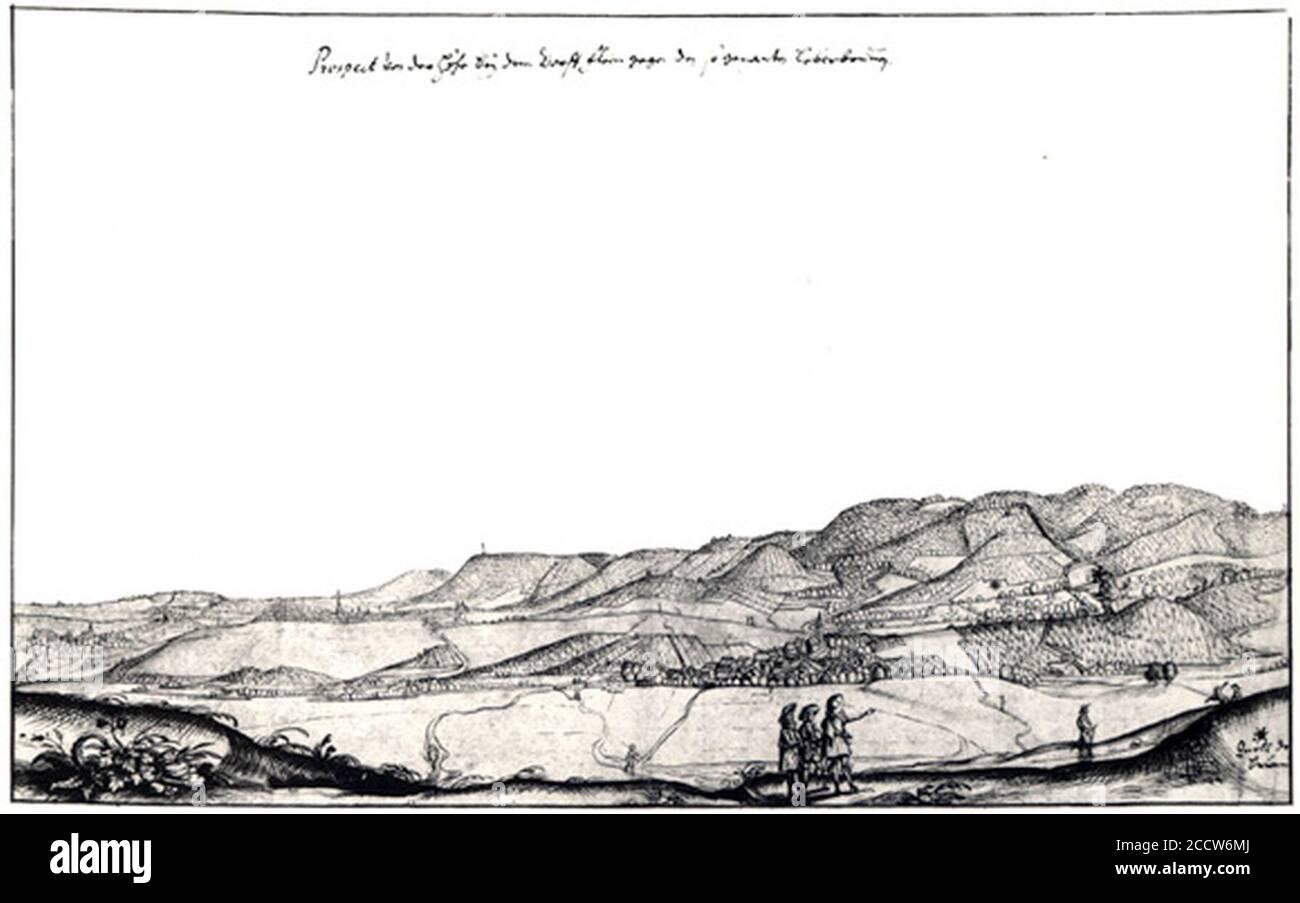 Johann Matthäus Faber (1626 - 1702) Ansicht von Flein um 1700. Stock Photo
