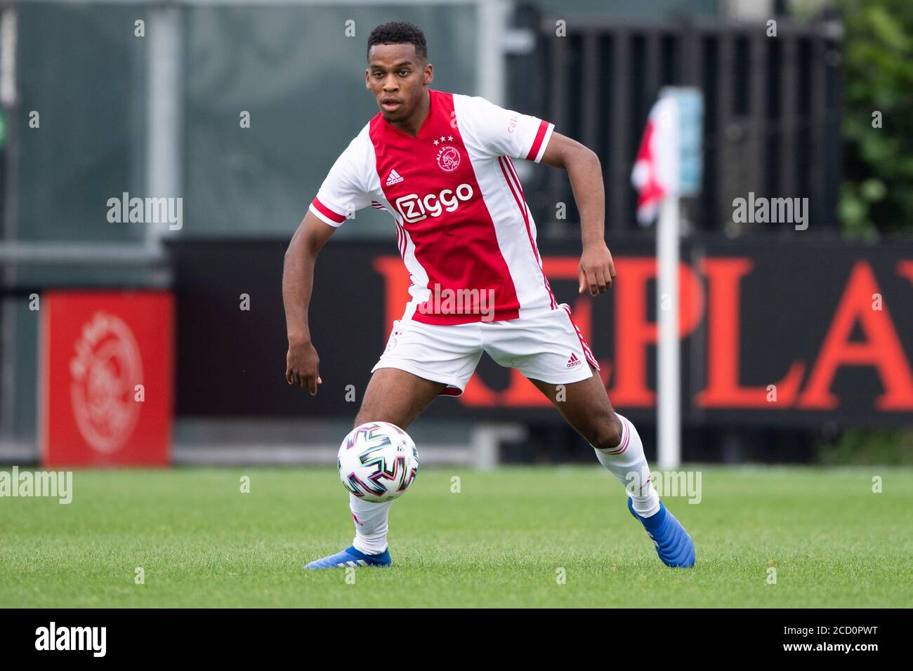 Amsterdam 25 08 2020 Sportpark De Toekomst Football Friendly Testmatch Season 2020 2021 Ajax Holstein Kiel Ajax Player Jurien Timber Stock Photo Alamy