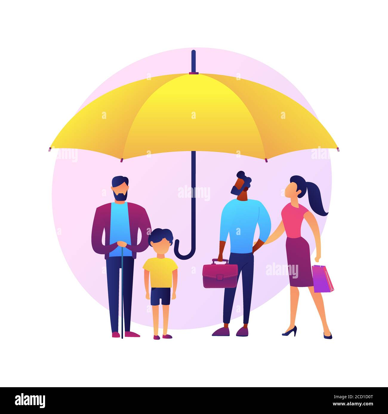 Consumer protection abstract concept vector illustration. Stock Vector