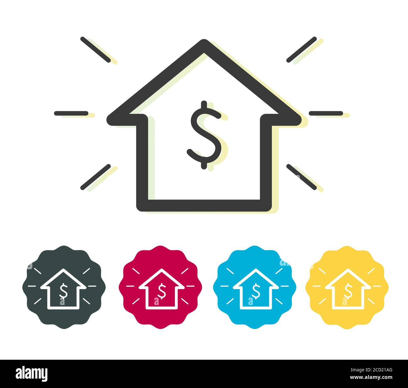 house with dollar sign cost advantage icon as eps 10 file stock vector image art alamy https www alamy com house with dollar sign cost advantage icon as eps 10 file image369453240 html