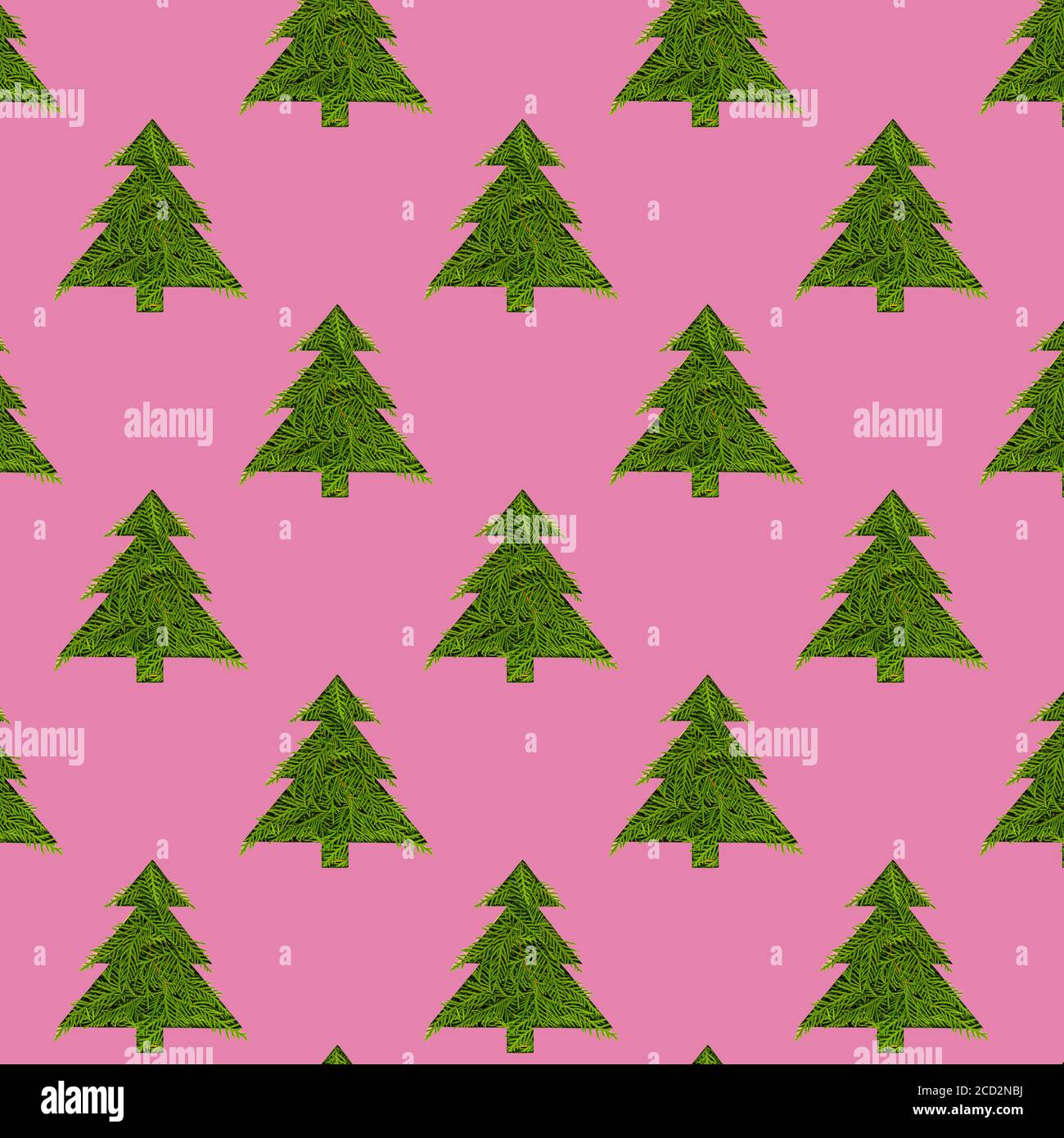 Seamless Pattern With Green Christmas Trees On A Pink Background Minimal Composition Pattern Background Of Christmas Trees New Year And Christmas Co Stock Photo Alamy