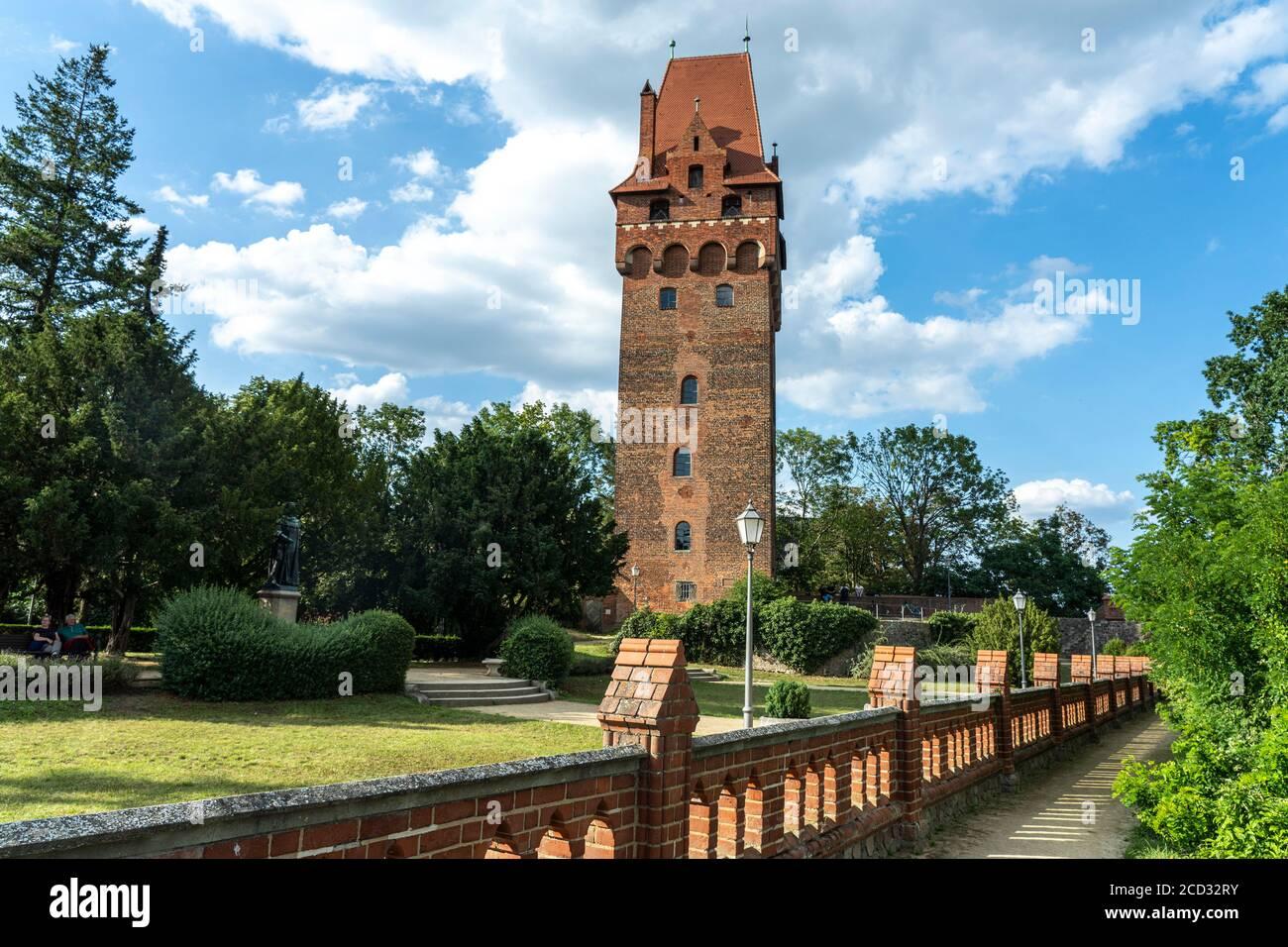 Kapitelturm der Burg Tangermünde, Sachsen-Anhalt, Deutschland    Tangermünde Castle tower, Tangermuende, Saxony-Anhalt, Germany Stock Photo