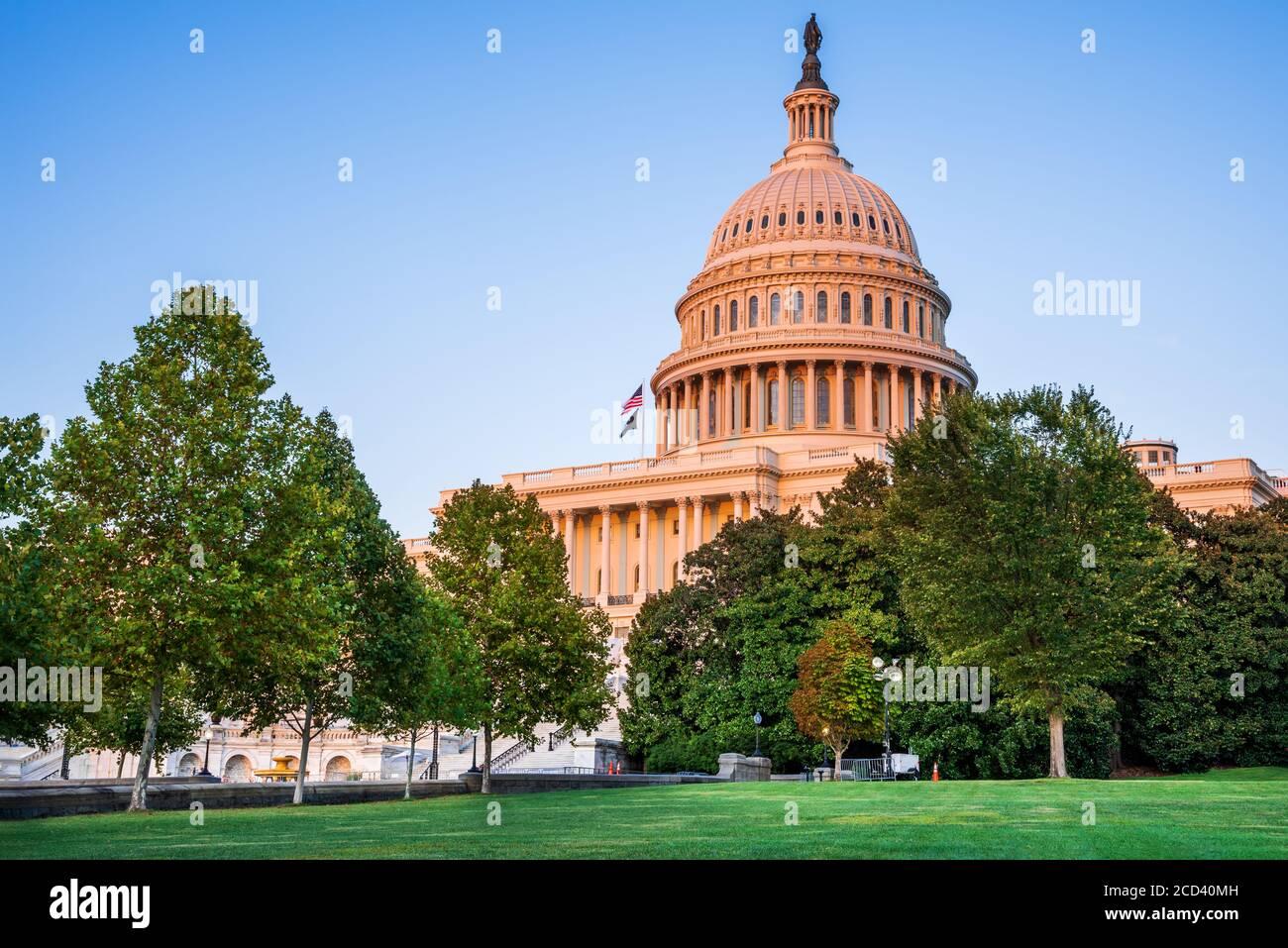 Washington DC, USA - The United States Capitol building at twilight. Stock Photo