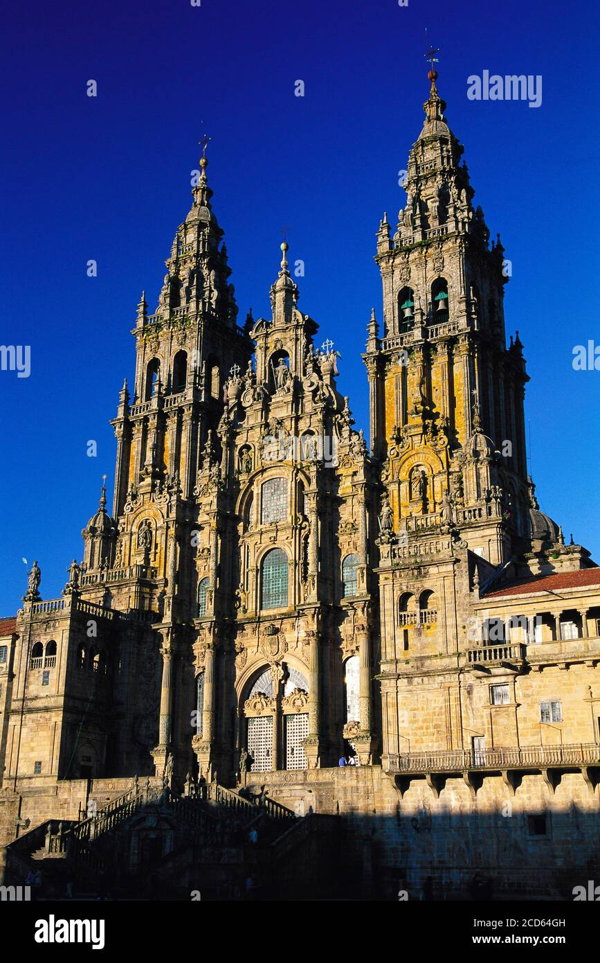 Cathedral of Santiago De Compostela, Galicia, Spain Stock Photo