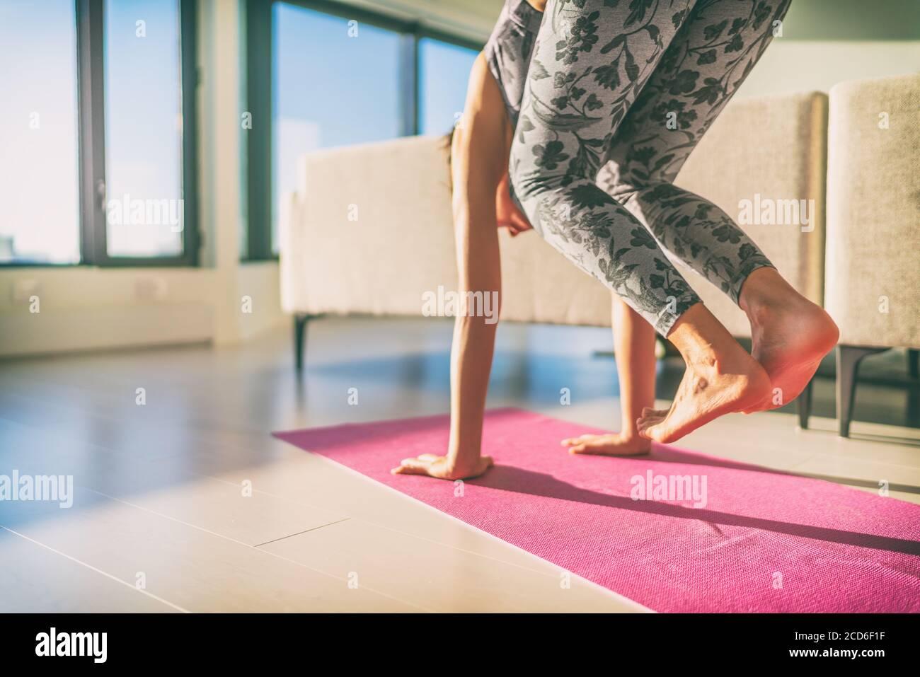 Yoga Girl Feet High Resolution Stock Photography and Images   Alamy